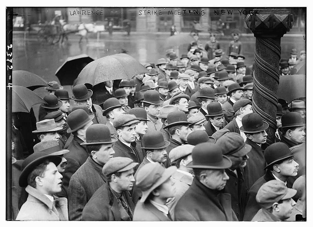 Lawrence strike meeting, New York, NY, 1912. Library of