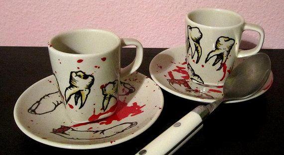 Mafia inspired espresso cup set.
