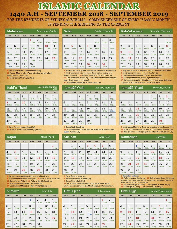 Islamic Calendar 20