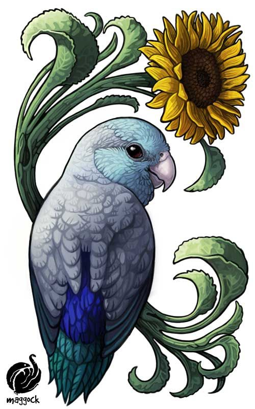 Just Finished An Adorable Tattoo Design For At Beakybirds Of Her