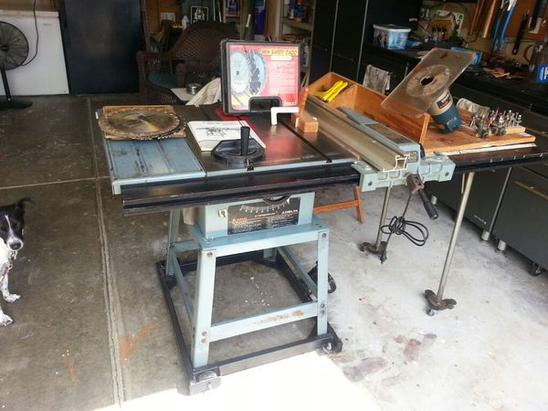 Delta 10 Model 34 445 Contractor S With 30 Unifence For Sale In Mccordsville In Offerup Making Cabinet Doors Delta Table Saw Contractor Table Saw