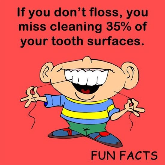 After you brush do you finish cleaning your teeth with floss? Did you know if you don't floss you miss cleaning 35% of your teeth?