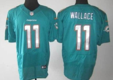 Nike Miami Dolphins #11 Mike Wallace 2013 Green Elite Jersey