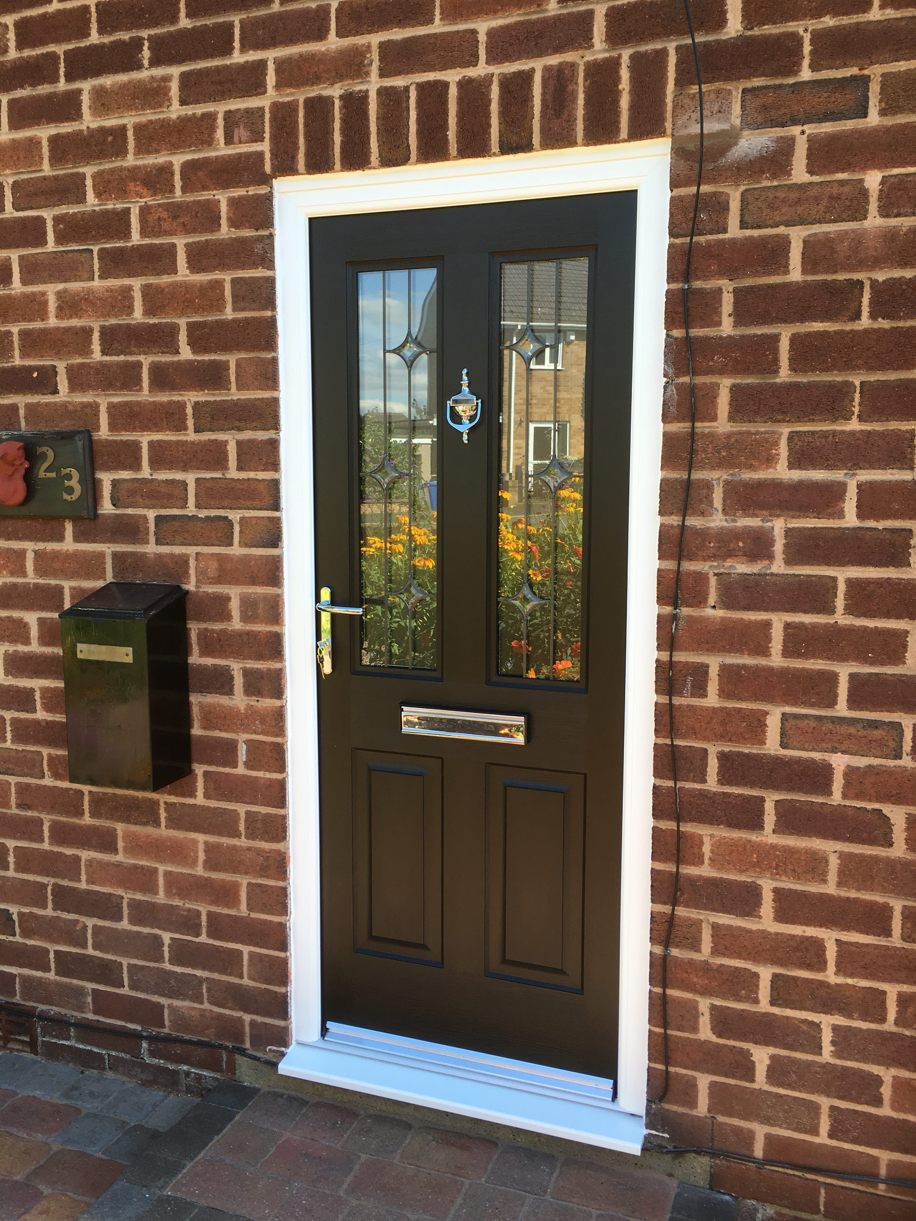 Rockdoor Jacobean Crystal Bevel fitted near Chesterfield