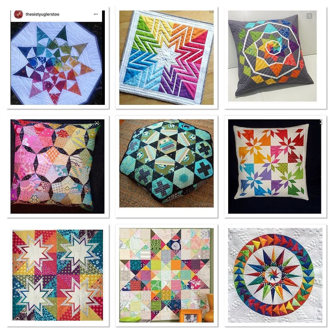 So hard to put this collage together for #starblockquiltswap. There's so much out there I love. Honestly partner I'm sure I will love whatever you put together. Have fun. by donna8b