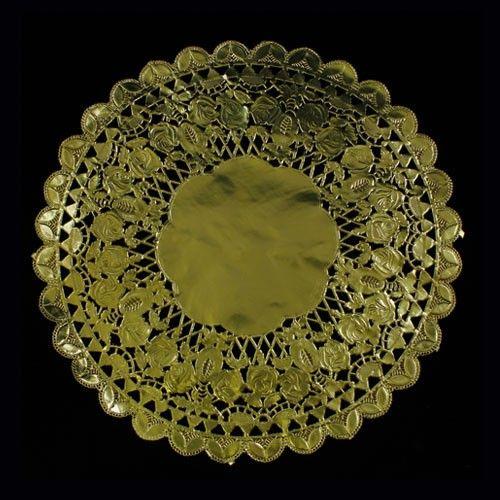 12 In Round Gold Foil Doilies 6 Ct Doilies For Sale Paper Lace Doilies Paper Doilies