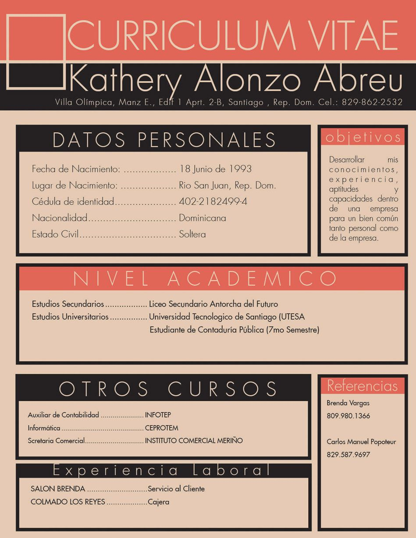 kathery  de rep u00fablica dominicana  nos env u00eda su cv   u00bfqu u00e9 te parece