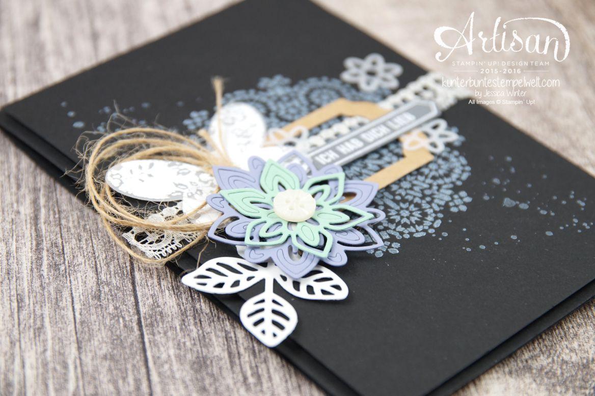Stampin´ Up! - Artisan Design Team - Thinlits Blütenpoesie - Schmetterlingsgarten - Moroccan Nights - 3