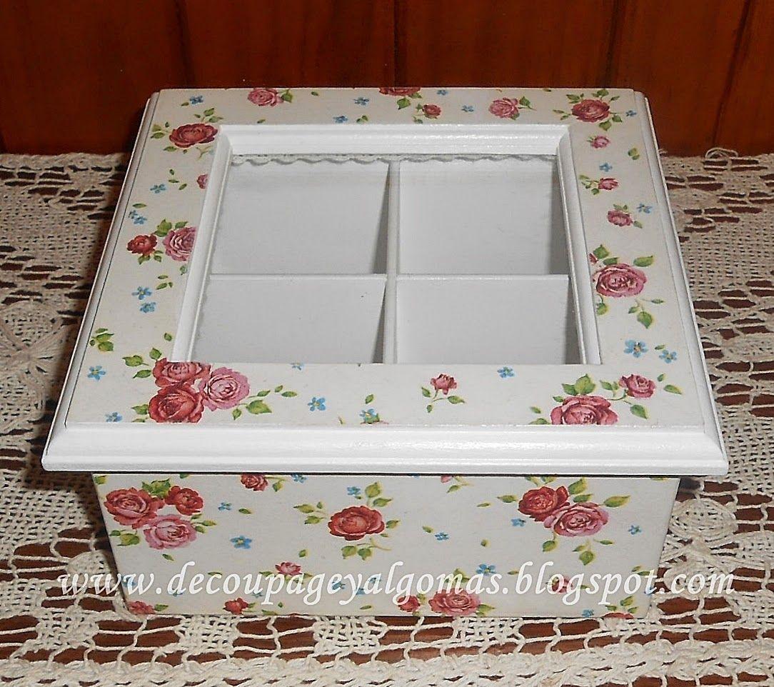 Cajas de te decoradas buscar con google manualidades - Manualidades cajas madera ...