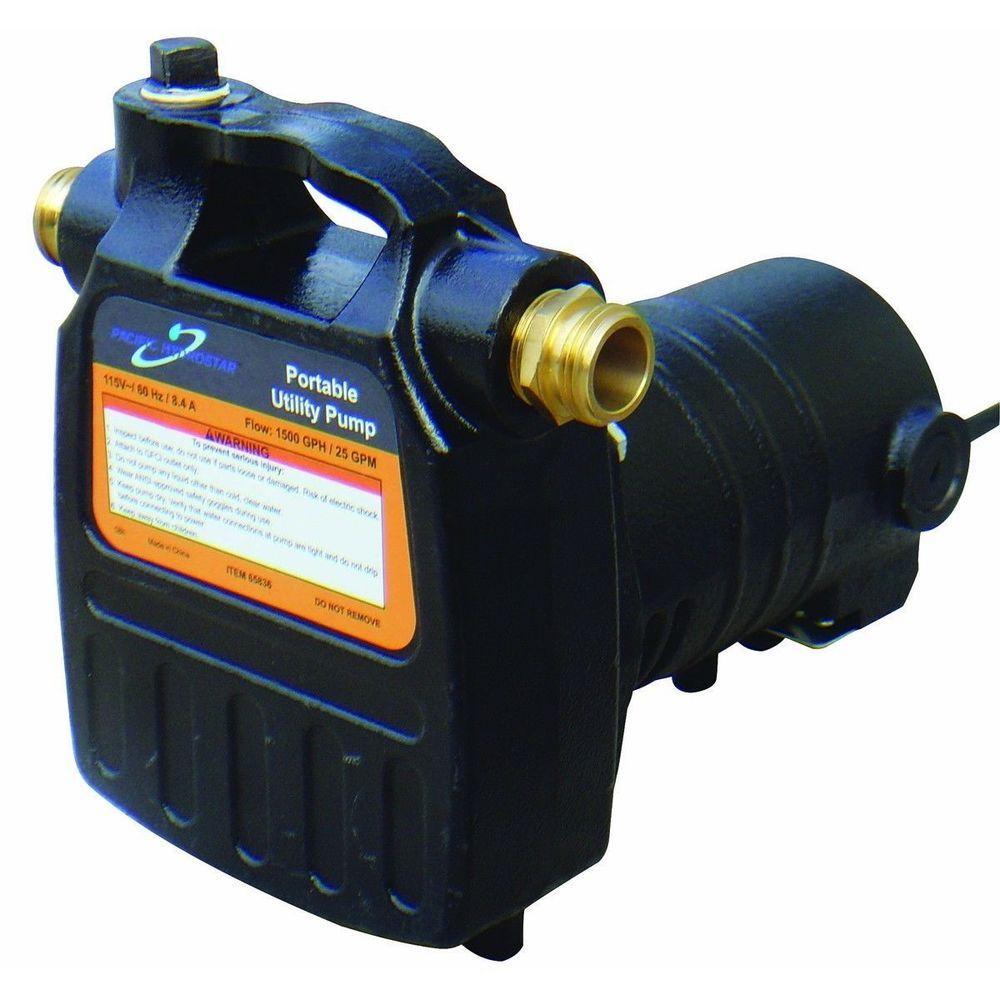 Portable Utility Electric Pump Water Pump Flood Pumps Garden Pumps Water Pumps Utility Pumps Garden Water Pump