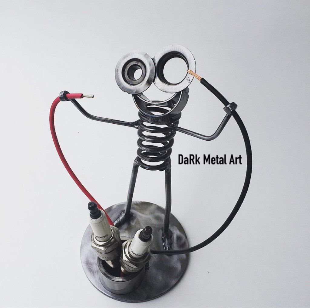 Electrician Metal Art Boogie Scrap metal art, Metal wall