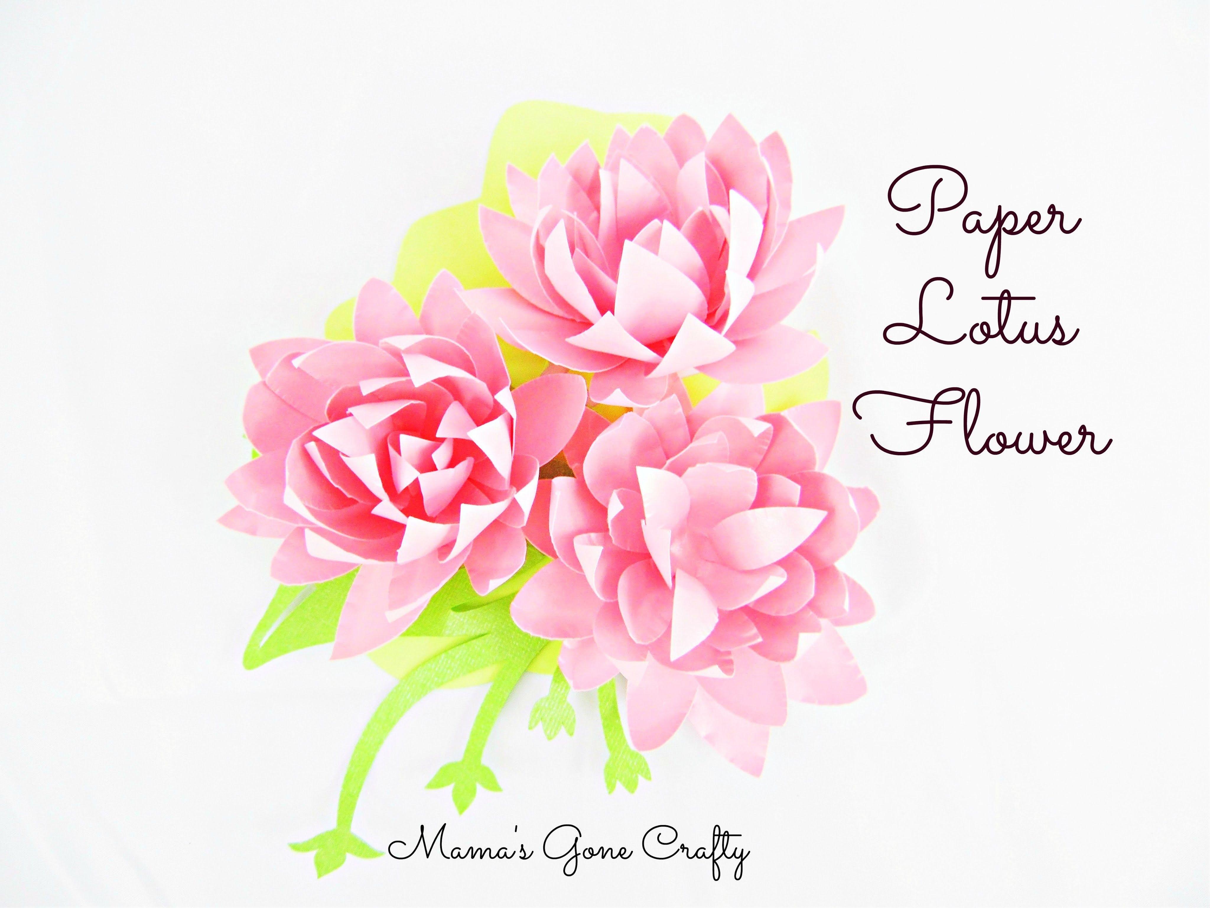 Easy Diy Paper Flowers Paper Lotus Flowers Papercraft Pinterest
