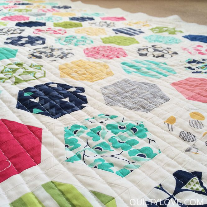 Hexie Framed Quilt Pattern Pinterest Super Excited Patterns And