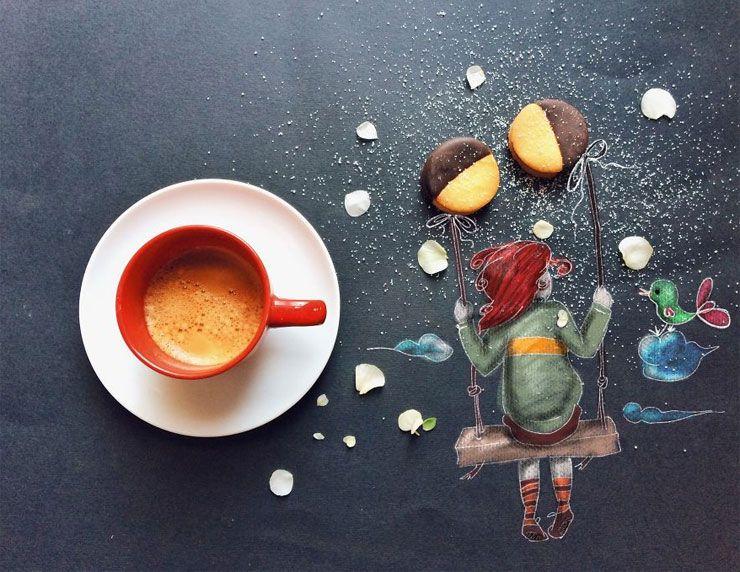 Daqui Dali» Arquivo do Blog » Designer transforma o momento do café da manhã em arte leve e encantadora