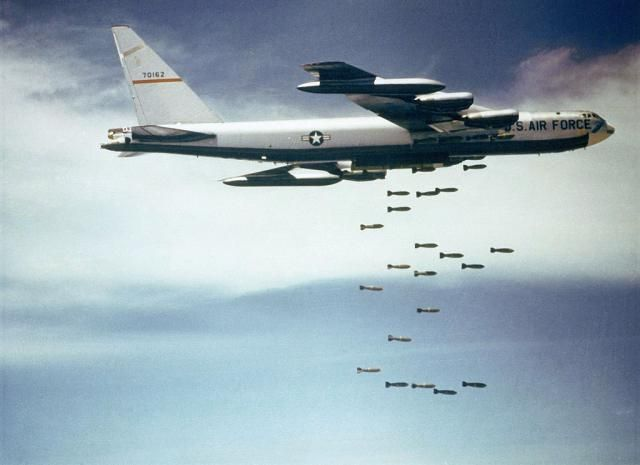 Vietnam War: Nixon & Vietnamization: US Air Force B-52 Stratofortresses strike North Vietnam