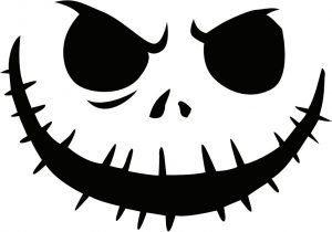 Jack Skellington Pumpkin Carving Stencil Picture Jack