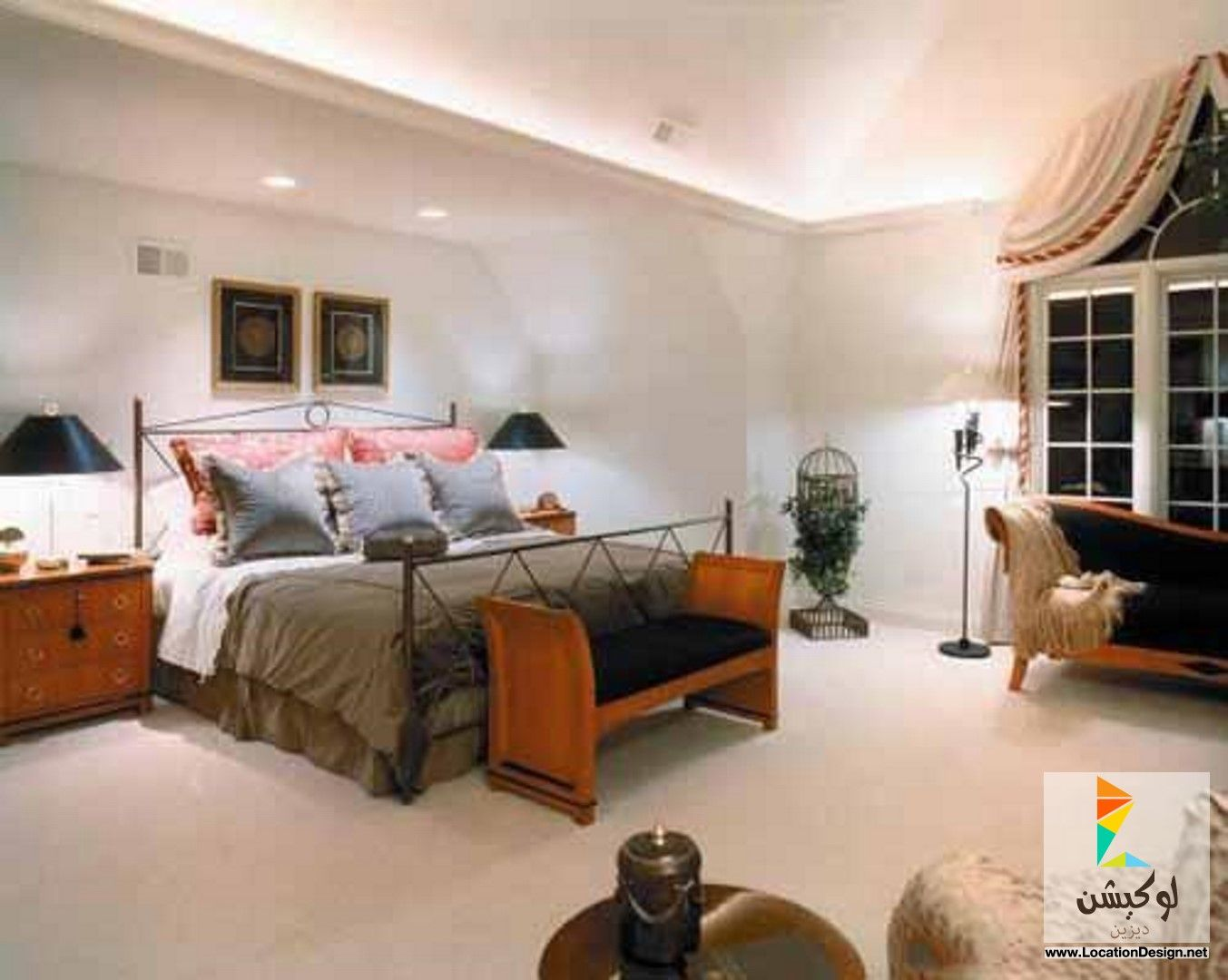 غرف نوم مودرن للمساحات الصغيرة لوكيشن ديزاين تصميمات ديكورات أفكار جديدة مصر Locationdesign Com Home Decor Home Furniture