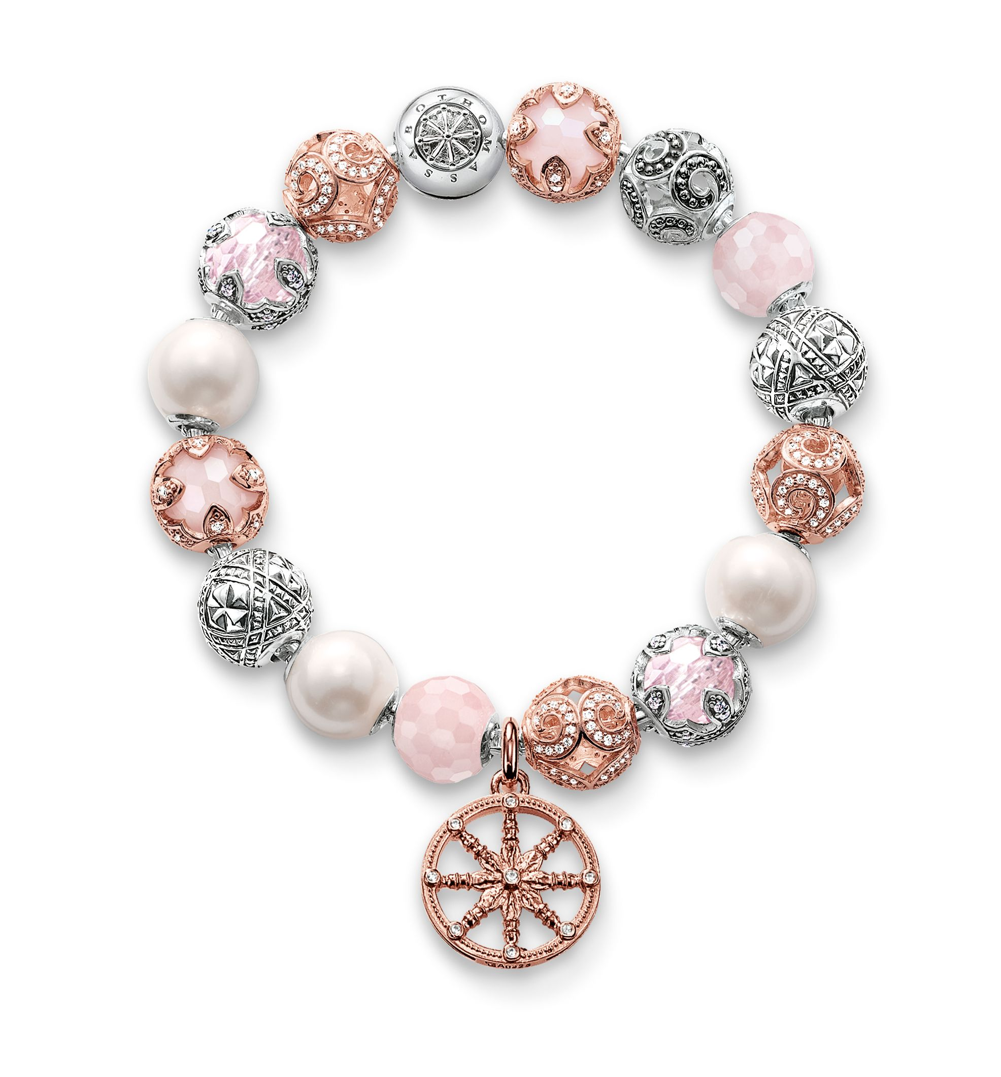 Thomas sabo white and rose gold watch