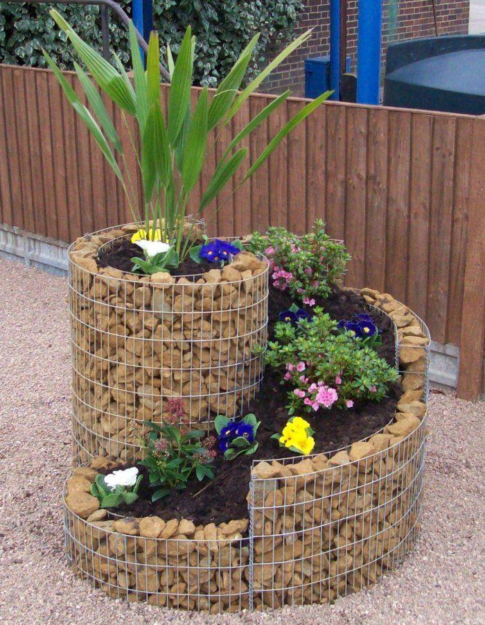 deko ideen selbermachen garten steine pflanzen kreativ | garten, Garten und bauen
