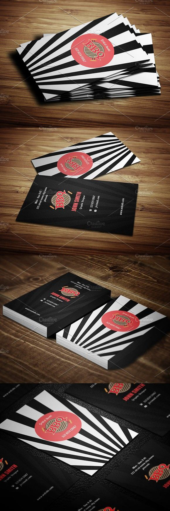 Creative Bbq Business Card Premium Design Business Cards