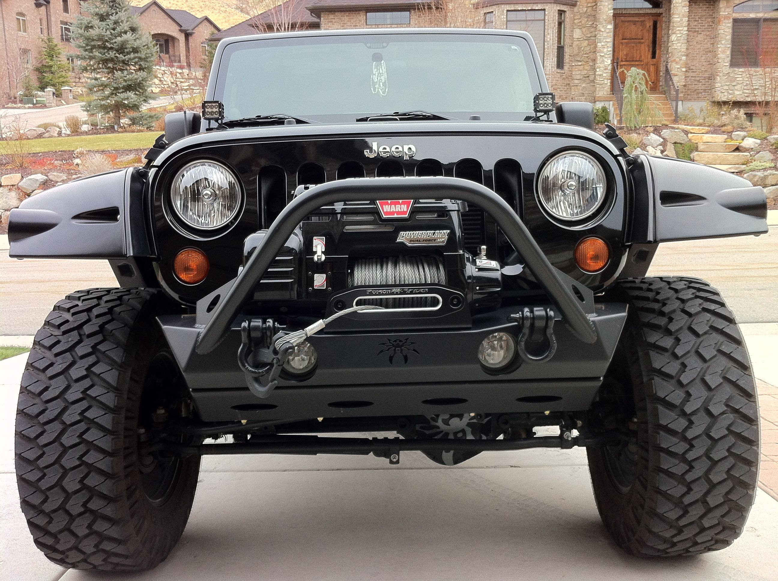 2012 Rubicon Jeep Jk Warn Winch Poison Spyder Bumper Every Rear Wrangler 2008