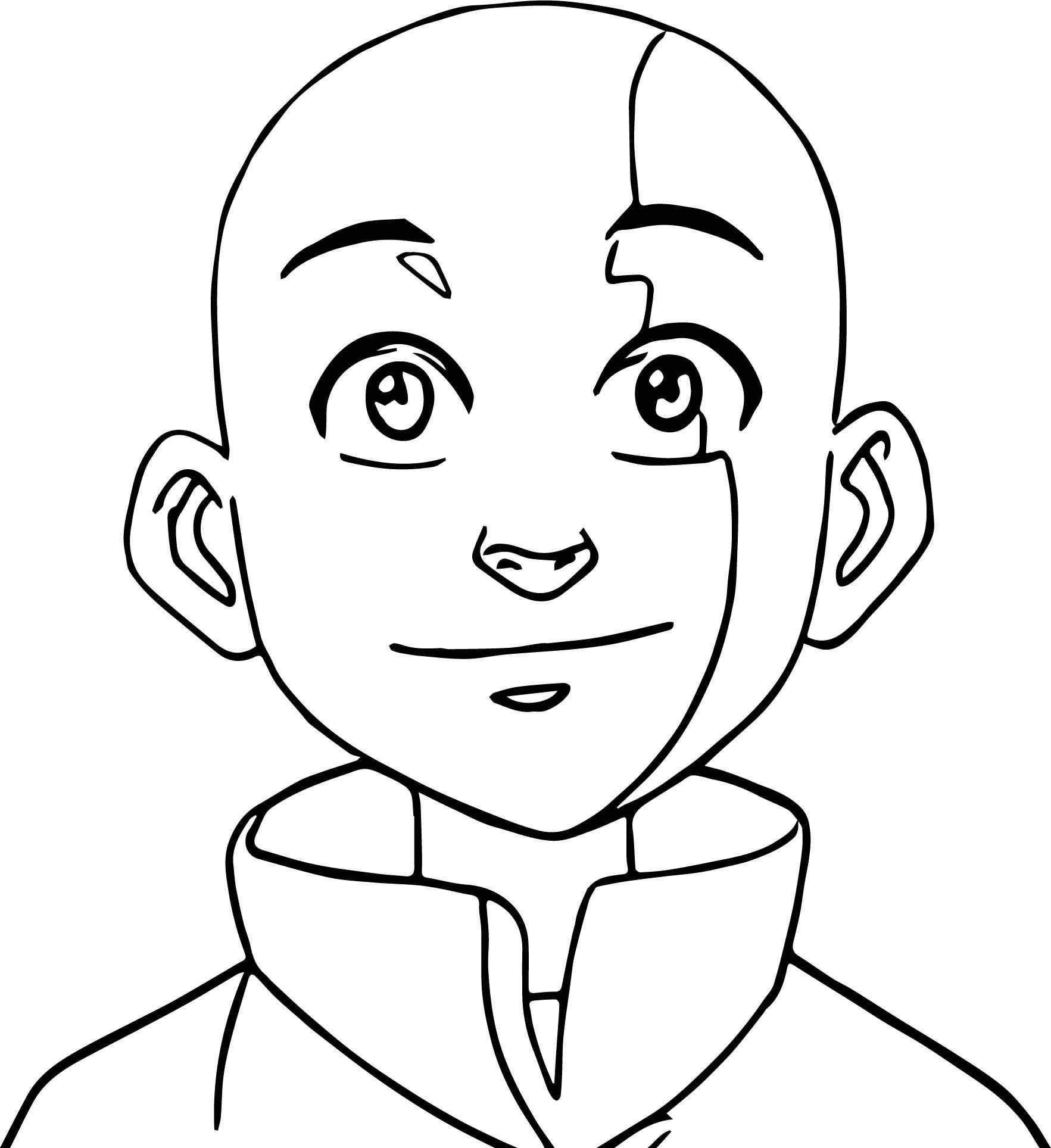 Aang O Avatar Aang Coloring Page