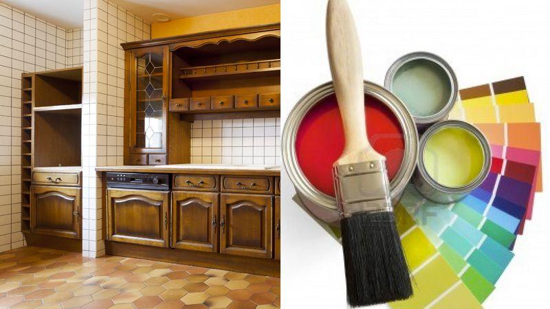 Peinture V33 pour Carrelage Meuble et bois extérieur Kitchens