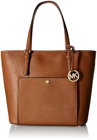 0d16a378e8a1 Michael Kors Mk Jet Set Signature Shoulder Bag