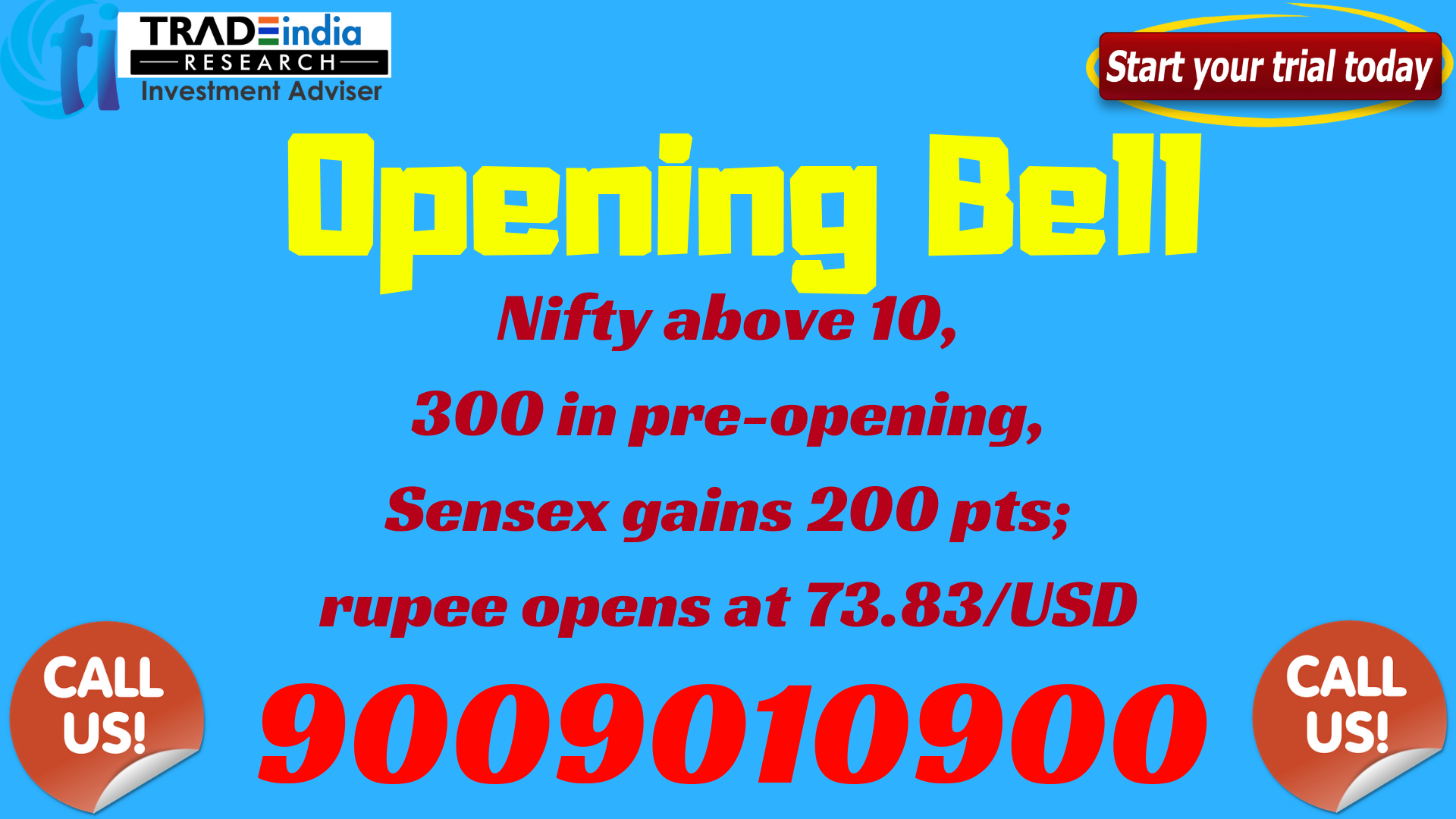 Opening Bell Updates Tradeindiaresearch Provides You