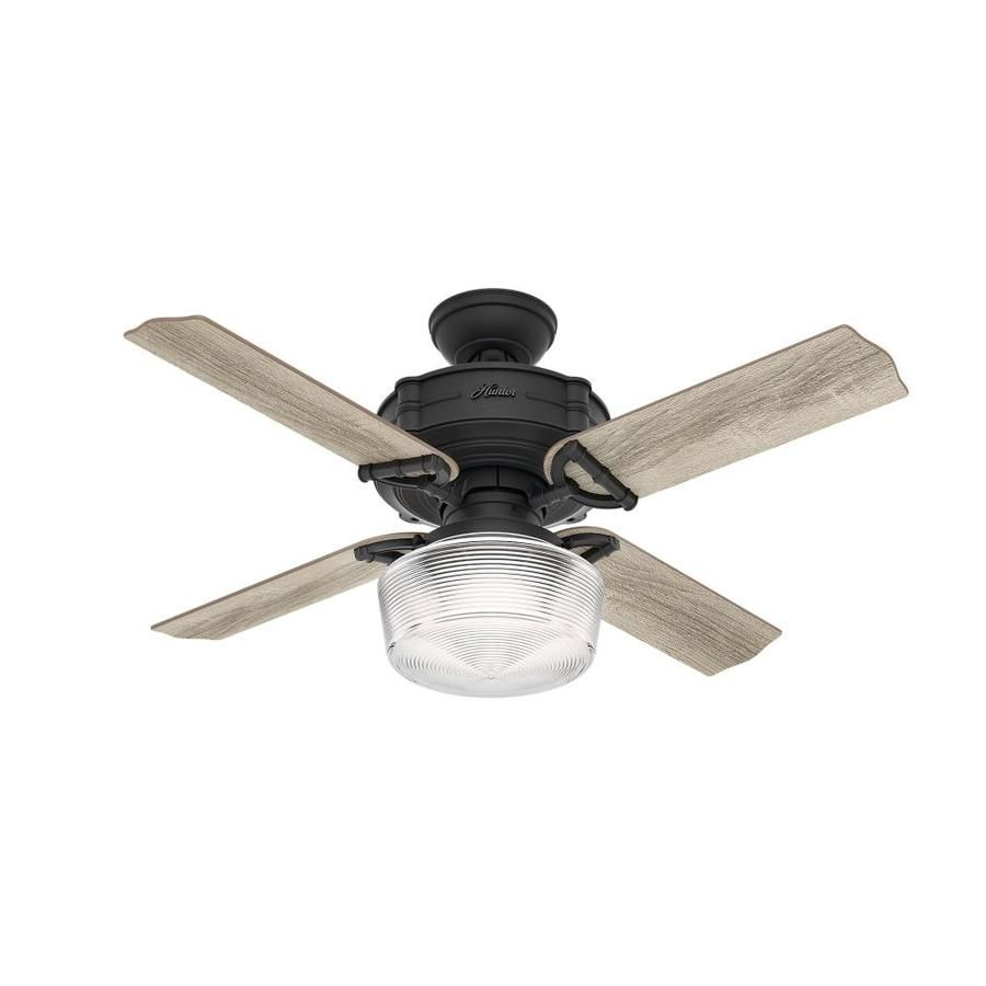 Hunter Brunswick 44 In Natural Iron Indoor Downrod Or Close Mount Ceiling Fan With Light Kit And
