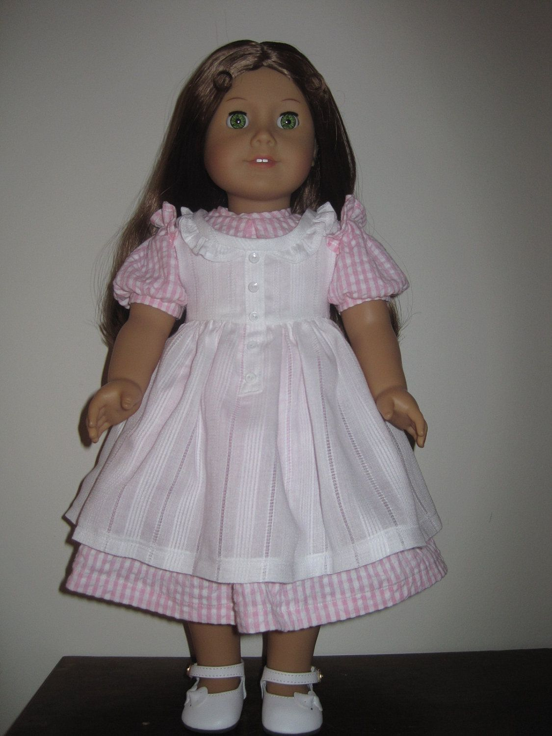 Old Fashioned Dress and Pinafore for American Girl and Similar 18 ...