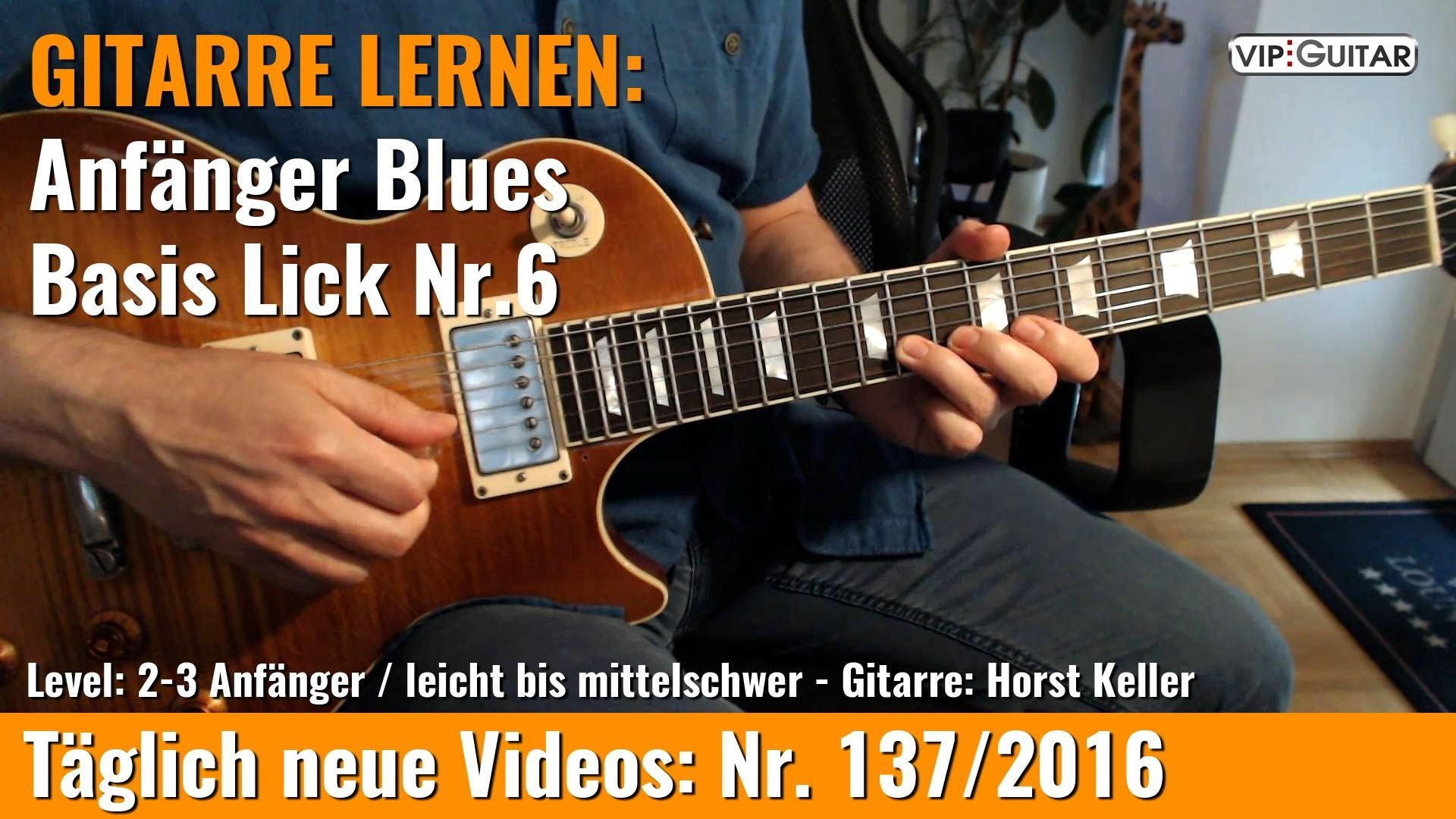 GITARRE LERNEN Anfänger Blues ■Basis Lick Nr 6