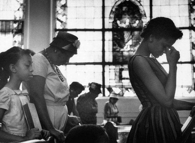 Praying For Freedom Riders At A Church In Alabama Circa 1960 S