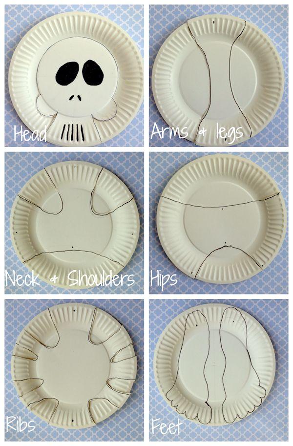 Halloween ideas  sc 1 st  Pinterest & Paper Plate Skeleton | #Halloween Activities | Halloween Decorations ...