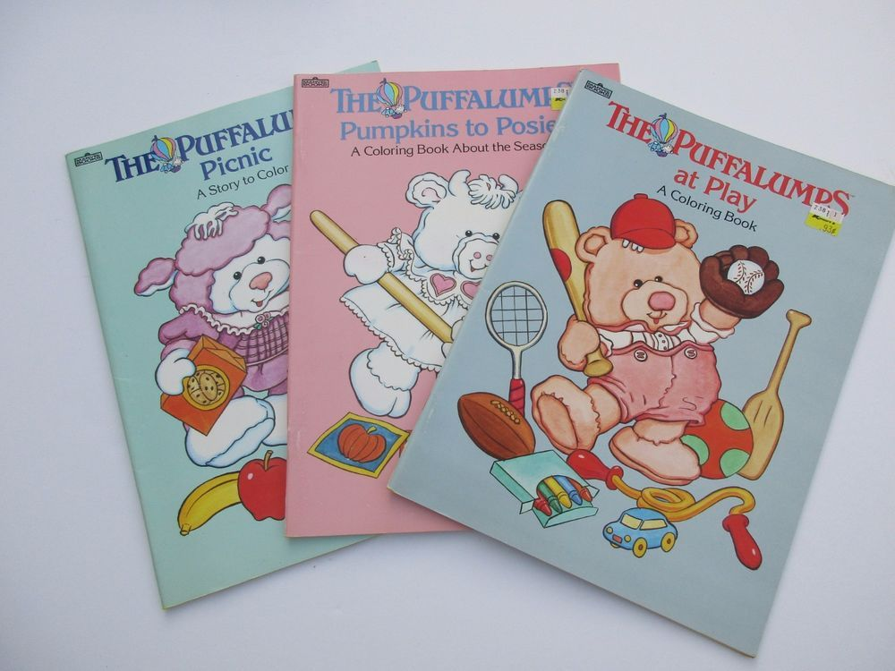 Vintage 1980 S Puffalumps Coloring Book Lot Fisherprice Coloring Books Books Play Book