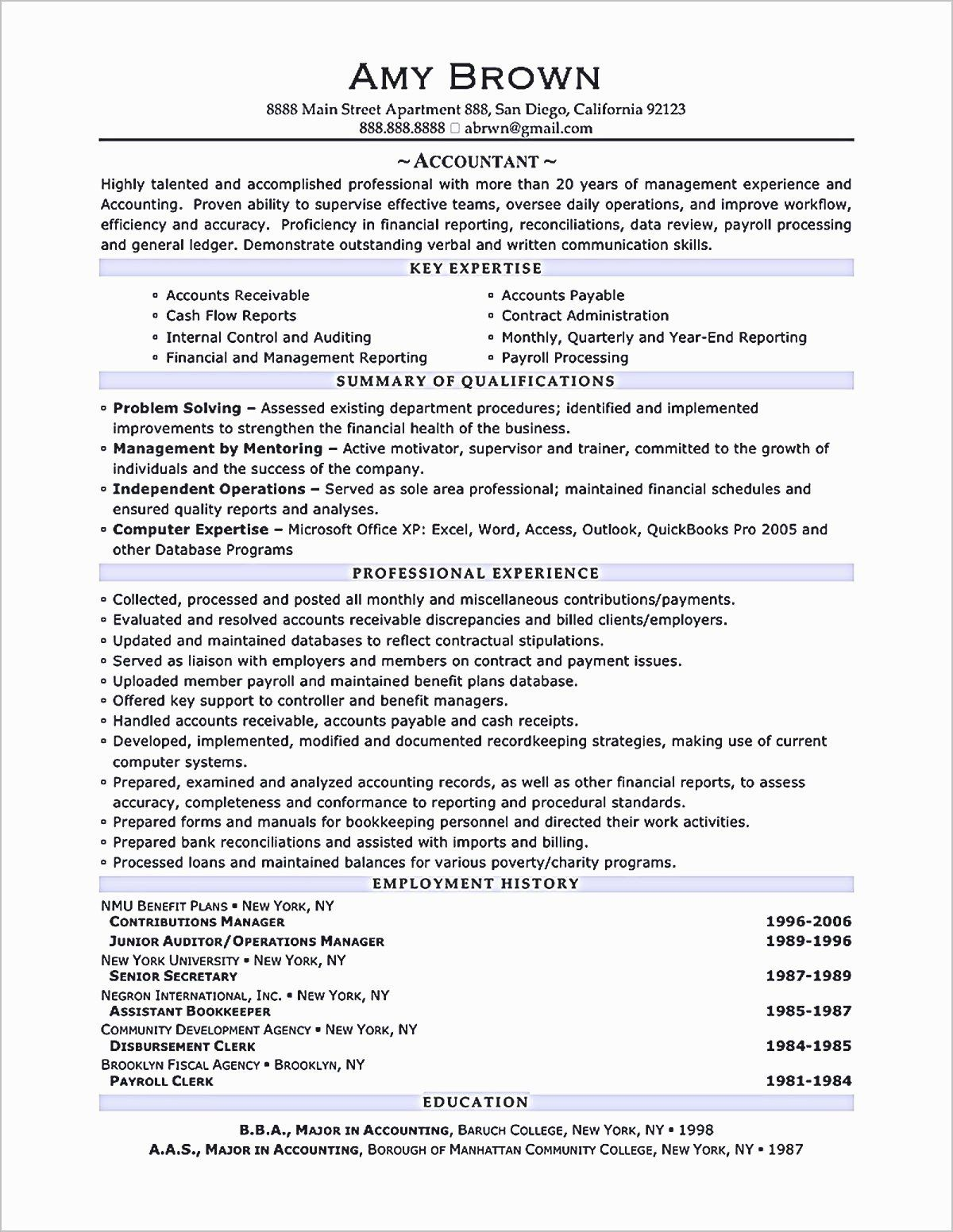 23 Staff Accounting Resume Examples In 2020 Accountant