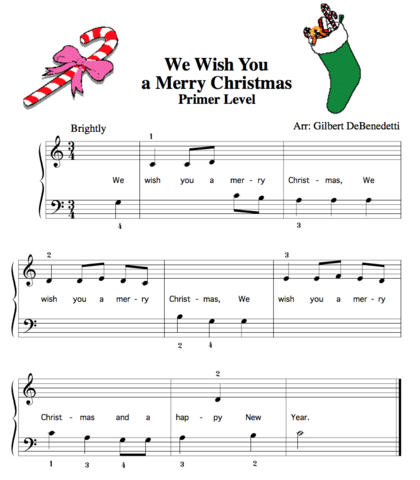 We Wish You A Merry Christmas Free Sheet Music Teaching Music Free Piano Free Sheet Music