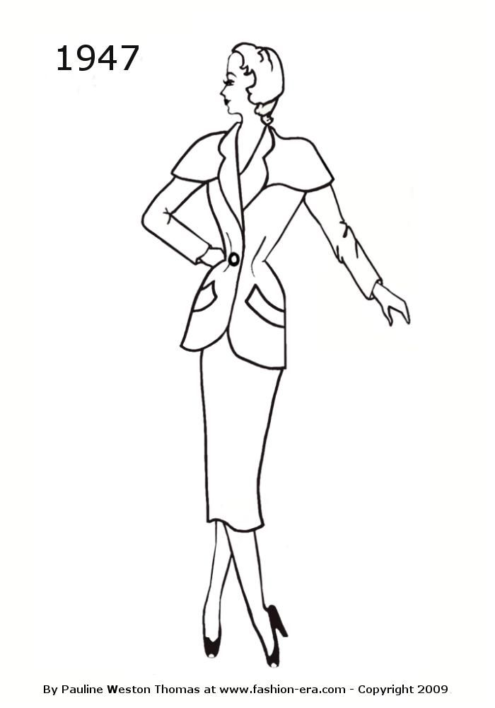 vintage coloring pages 1950s - photo#14