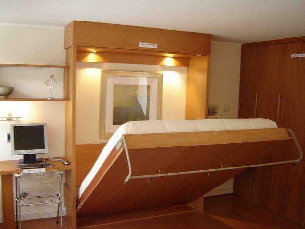 Ahorra espacio en el dormitorio cambiando tu cama small - Cama plegable pared ...