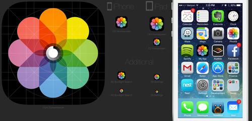 iOS7 Icon PSD Template Application icon, Ios 7 icons