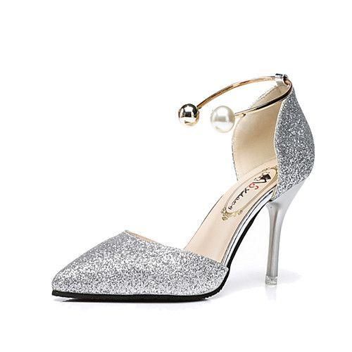 7f19d72e5 Tacón Dorado Stiletto Tacones Confort Zapatos Primavera Rosa Mujer Verano  Pu Plateado 0Yqx78