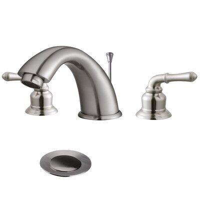 Photo of Aquaterior Widespread Bathroom Faucet Finish: Brushed Nickel
