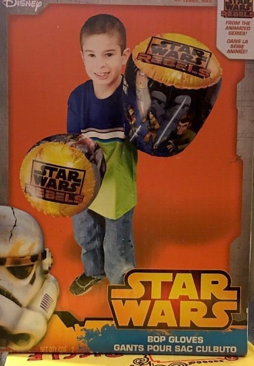 Star Wars Rebels Inflatable Bop Gloves Toy Sports Play Set New Disney