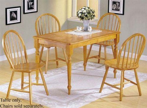 Oak Tile Wood Round Pedestal Dining Table With Windsor Chairs Oak Dining Room Table Wooden Dining Room Table Interior Design Dining Room