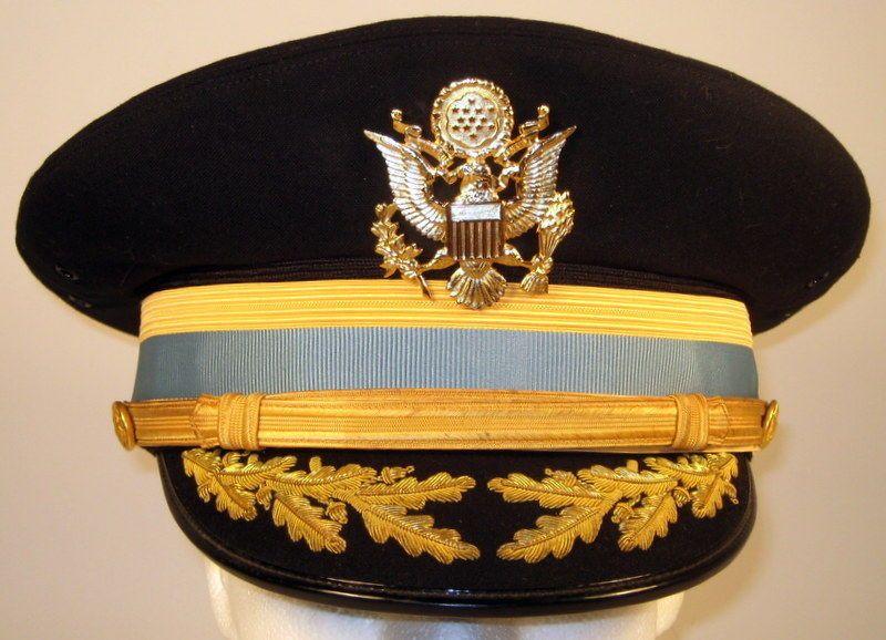 a33f23c94288 US Army Field Officer Infantry Service Dress Blues Uniform Hat Cap Bullion