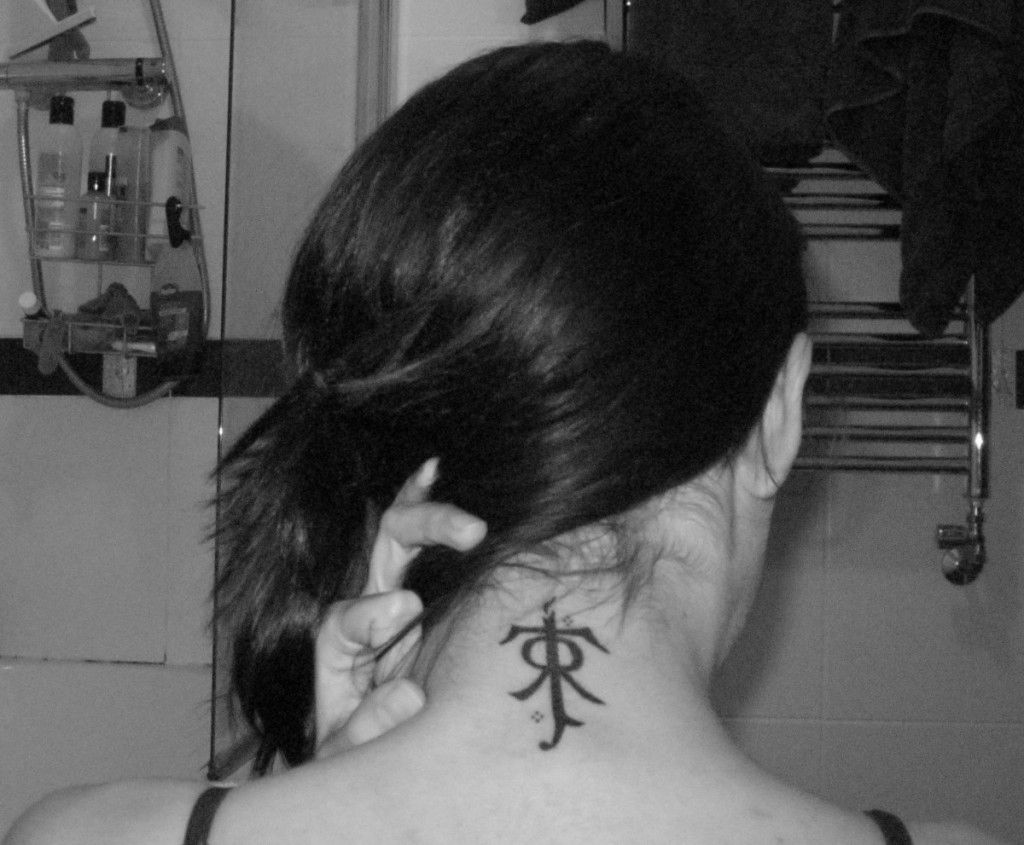 Tolkiens Symbol As A Great Neck Tattoo This Is My New Plan For