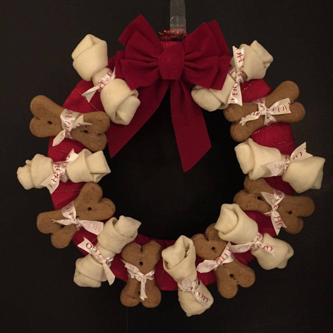 Dog bone wreath christmas pinterest bones
