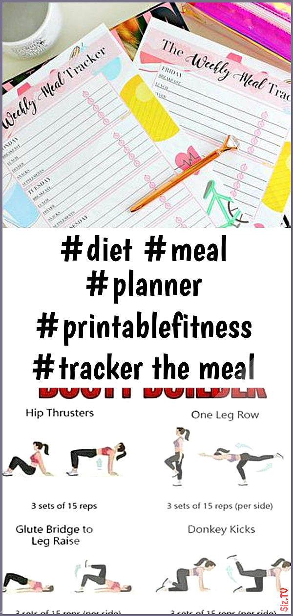 diet meal planner printablefitness tracker the meal tracker planner printable-fitness planner 5 diet...
