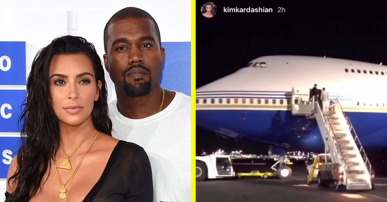 Kim Kardashian And Kanye West Flew Privately On A Boeing 747 And People Are Mad Kim Kardashian And Kanye Kim Kardashian Kanye West Kim K And Kanye