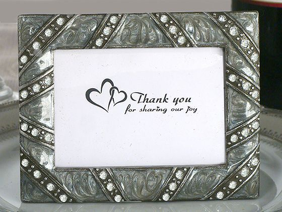 Place Card Frame For Baby Showers Silver Epoxy Photo Frame